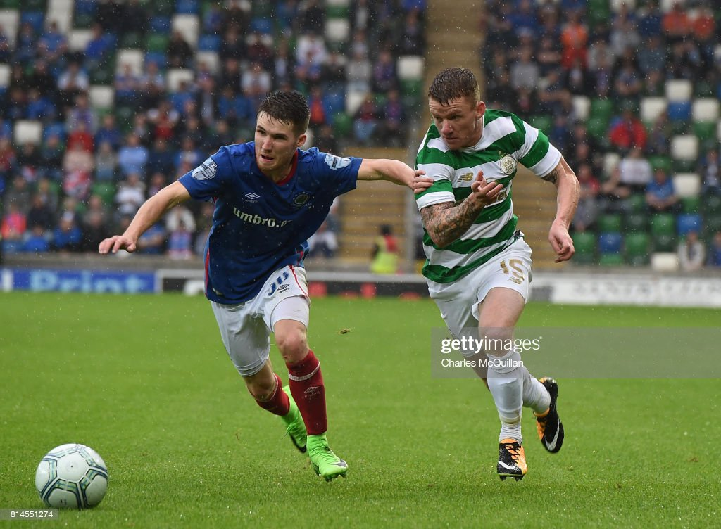 Linfield v Celtic - UEFA Champions League Qualifying Second Round: First Leg : News Photo