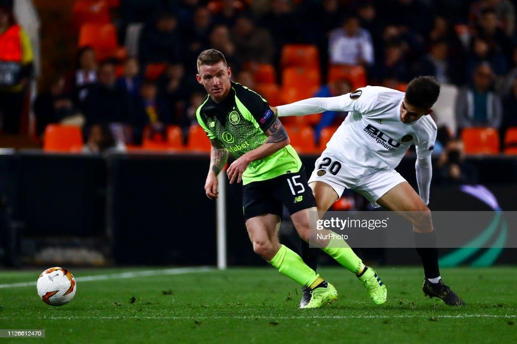 Valencia v Celtic - UEFA Europa League Round of 32: Second Leg : News Photo