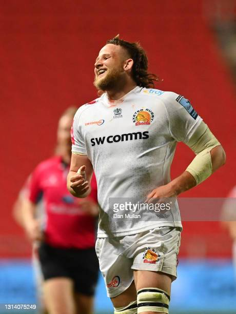Jonny Hill of Exeter Chiefs looks on during the Gallagher Premiership Rugby match between Bristol Bears and Exeter Chiefs at Ashton Gate on April 23,...