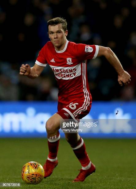 Jonny Howson of Middlesbrough in action during the Sky Bet Championship match between Queens Park Rangers and Middlesbrough at Loftus Road on January...