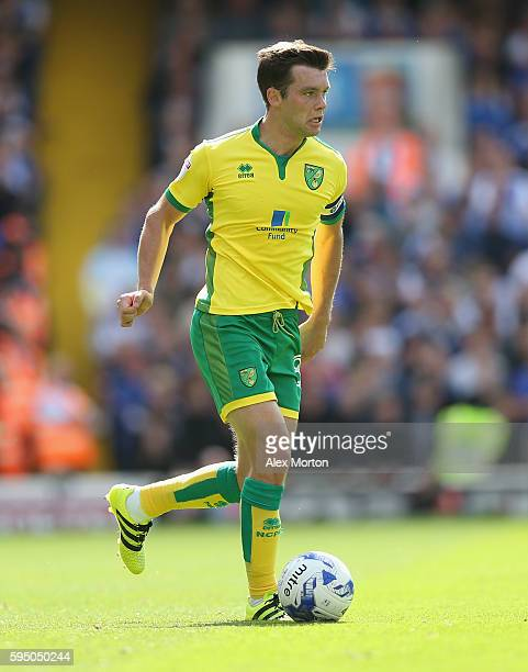 Jonny Howson of Norwich during the Sky Bet Championship match between Ipswich Town and Norwich City at Portman Road on August 21 2016 in Ipswich...