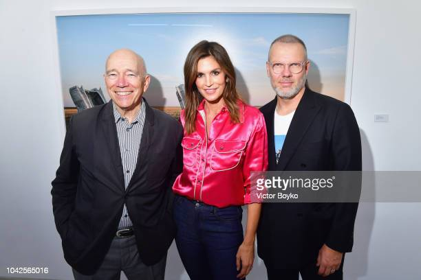 Jonny Johansson at an exhibition hosted by Acne Studios featuring Cindy Crawford Sam Abell and Amarrillo on at Galerie Edouard Escougnou on September...