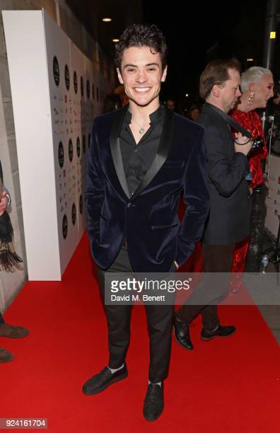 Jonny Labey attends the 18th Annual WhatsOnStage Awards at the Prince Of Wales Theatre on February 25 2018 in London England