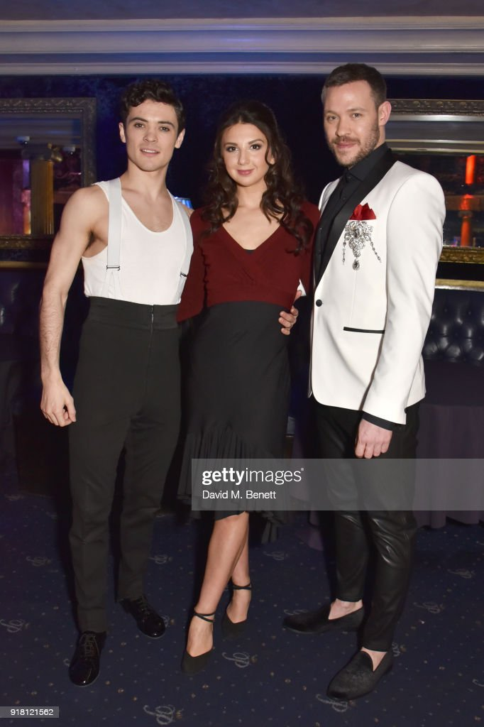 Jonny Labey, Zizi Strallen and Will Young pose at a photocall for 'Strictly Ballroom The Musical' at Cafe de Paris on February 14, 2018 in London, England.