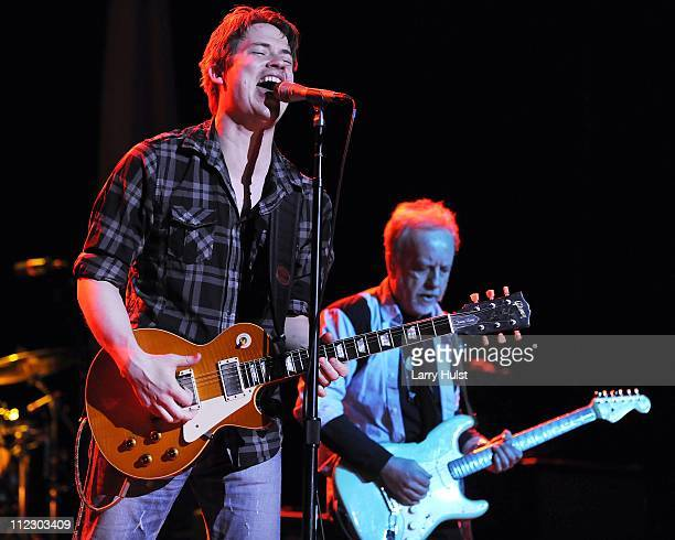 Jonny Lang and Brad Whitford performing at Paramount theater in Denver Colorado on March 15 2010