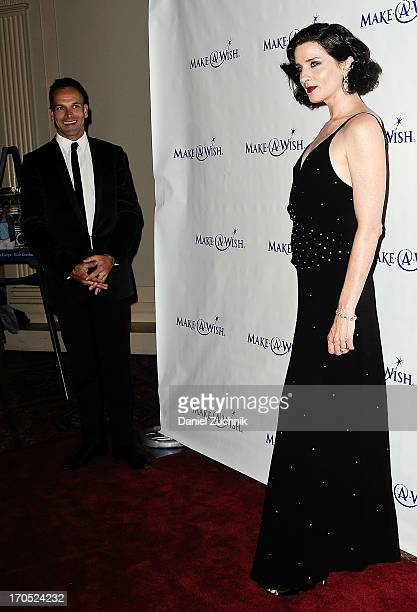 Jonny Lee Miller and Michele Hicks attend the MakeAWish Metro New York 30th Anniversary Gala at Cipriani Wall Street on June 13 2013 in New York City