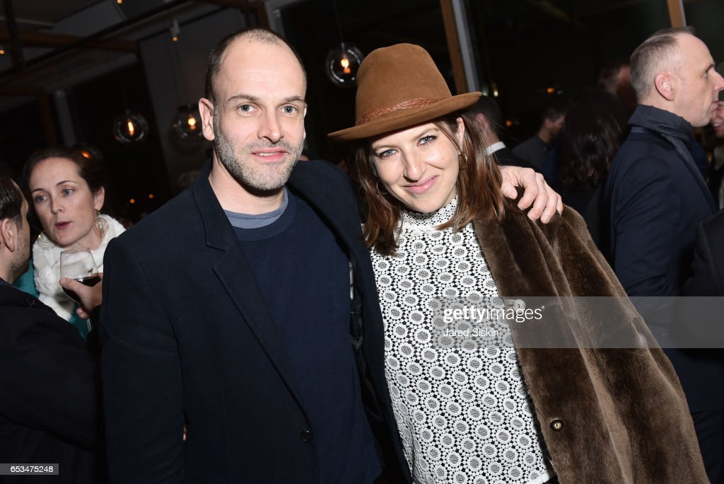 Jonny Lee Miller and Tara Summers attend TriStar Pictures & The Cinema Society with 19 Crimes Host the After Party for 'T2 Trainspotting' at Mr. Purple at the Hotel Indigo LES on March 14, 2017 in New York City.