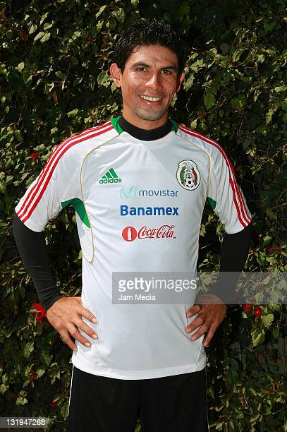 Jonny Magallon poses during a trainning session of the Mexican Soccer National Team at CAR on November 8 2011 in Mexico City Mexico