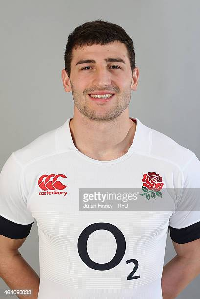 Jonny May of England poses for a portrait during the England Six Nations Squad Photo Call at the Penny Hill Hotel on January 20 2014 in Bagshot...