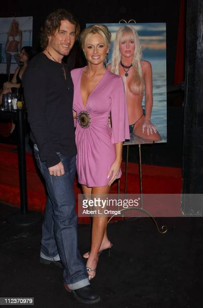 Jonny Miller and Katie Lohmann during Katie Lohmann 2006 Calendar Release Party at Privilege in West Hollywood California United States