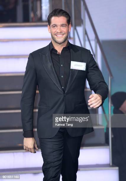Jonny Mitchell enters the Celebrity Big Brother house at Elstree Studios on January 5 2018 in Borehamwood England