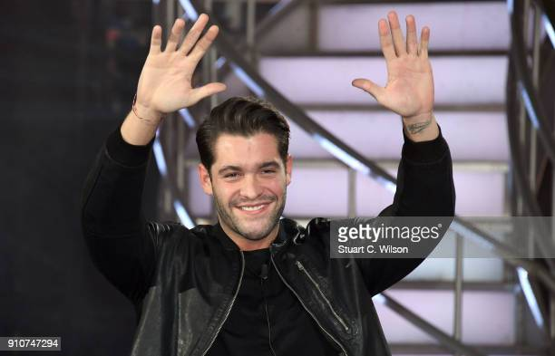 Jonny Mitchell is evicted during Celebrity Big Brother at Elstree Studios on January 26 2018 in Borehamwood England