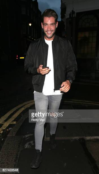 Jonny Mitchell seen on a night out at El Pirata of Mayfair Spanish restaurant on August 7 2017 in London England