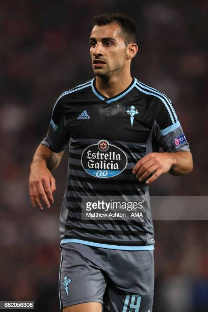 Jonny of Celta Vigo in action during the UEFA Europa League semi final second leg match between Manchester United and Celta Vigo at Old Trafford on...
