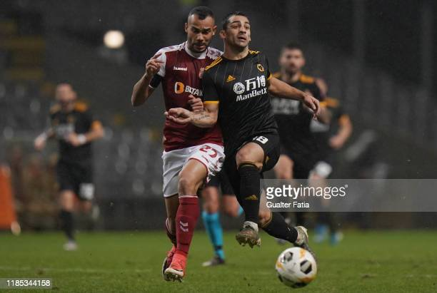 Jonny of Wolverhampton Wanderers with Fransergio of SC Braga in action during the Group K UEFA Europa League match between SC Braga and Wolverhampton...