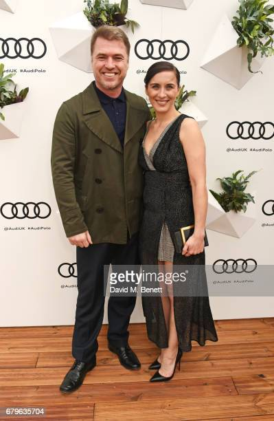 Jonny Owen and Vicky McClure attend the Audi Polo Challenge at Coworth Park on May 6 2017 in Ascot United Kingdom