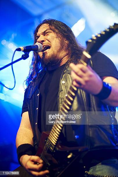 Jonny Parr of Attica Rage performs during the final day of Hammerfest at Pontins on March 19 2011 in Prestatyn United Kingdom