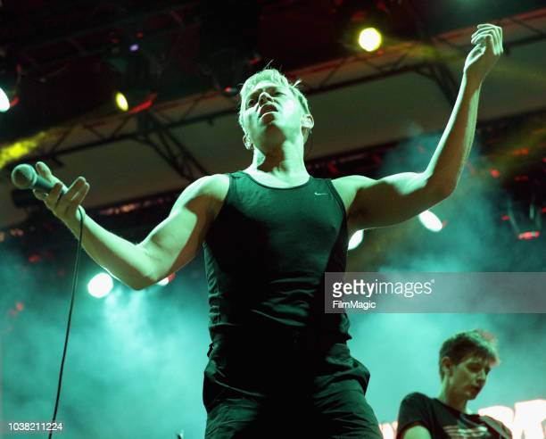 Jonny Pierce of The Drums performs on Huntridge Stage during the 2018 Life Is Beautiful Festival on September 22 2018 in Las Vegas Nevada