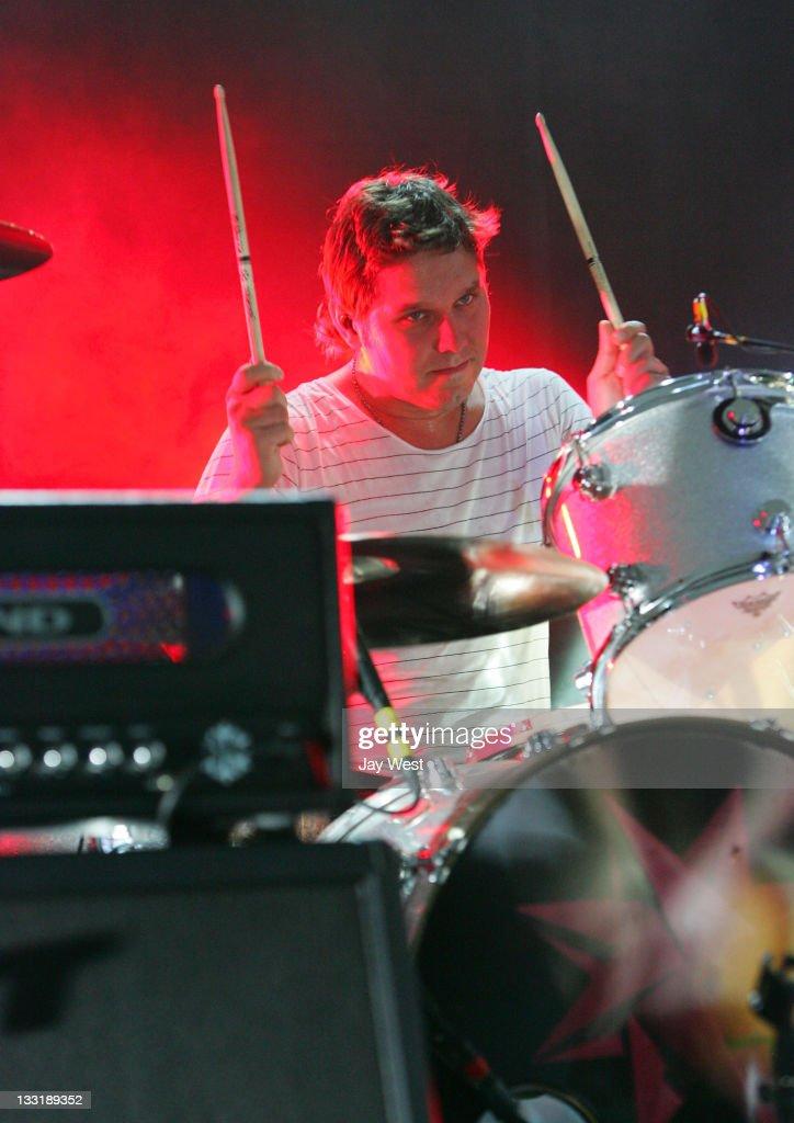 Jonny Quinn of Snow Patrol in concert at Stubb's Bar-B-Q on October 6, 2009 in Austin, Texas.