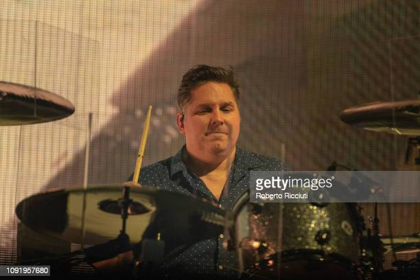 Jonny Quinn of Snow Patrol performs on stage at The SSE Hydro on January 31 2019 in Glasgow Scotland