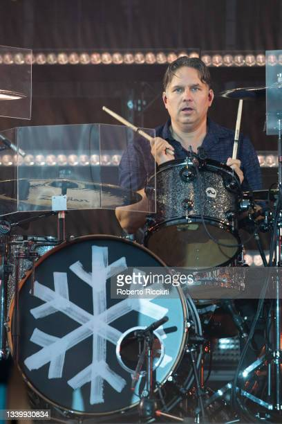 Jonny Quinn of Snow Patrol performs on the Main Stage on the third day of TRNSMT Festival 2021 on September 12, 2021 in Glasgow, Scotland.