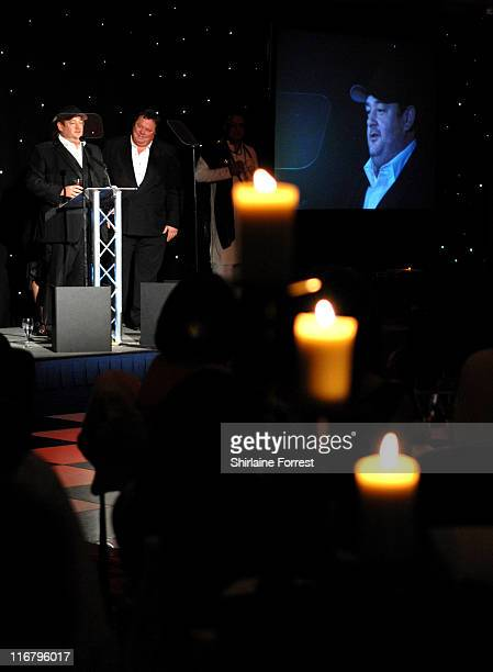 Jonny Vegas presents Les Dawson Award to Caroline Aherne