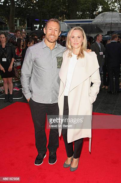 Jonny Wilkinson and Shelley Jenkins attend the World Premiere of 'Building Jerusalem' at the Empire Leicester Square on September 1 2015 in London...