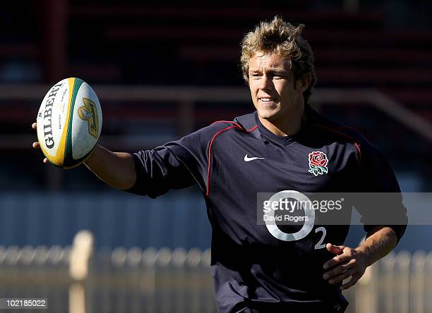 Jonny Wilkinson catches the ball during the England training session held at the North Sydney Oval on June 18 2010 in Sydney Australia