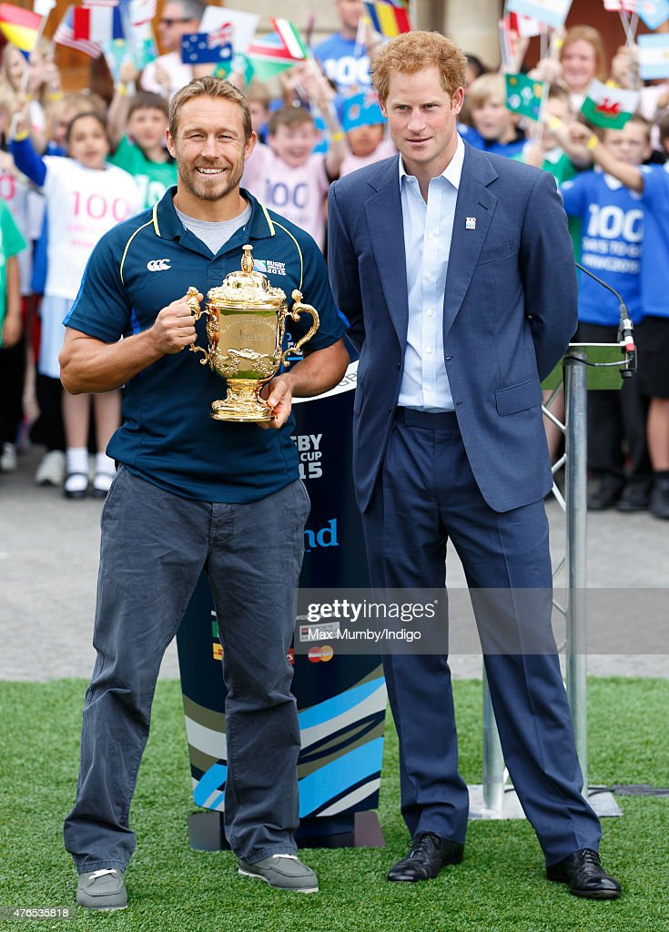 Prince Harry Launches The Rugby World Cup Trophy Tour : ニュース写真