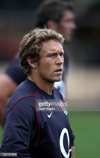 Jonny Wilkinson looks on during the England training session at North Sydney Oval at on June 17 2010 in Sydney Australia