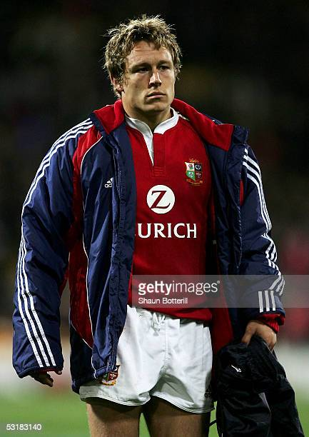 Jonny Wilkinson of the Lions leaves the pitch dejected at the end of the second test match between New Zealand All Blacks and British and Irish Lions...