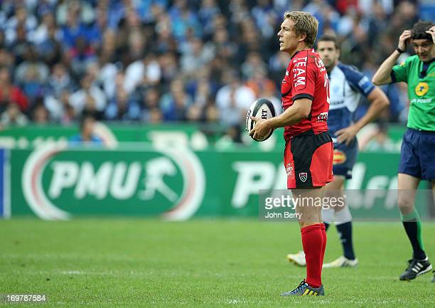 Jonny Wilkinson of Toulon in action during the french rugby league Top 14 Final match between RC Toulon and Castres Olympique at the Stade de France...