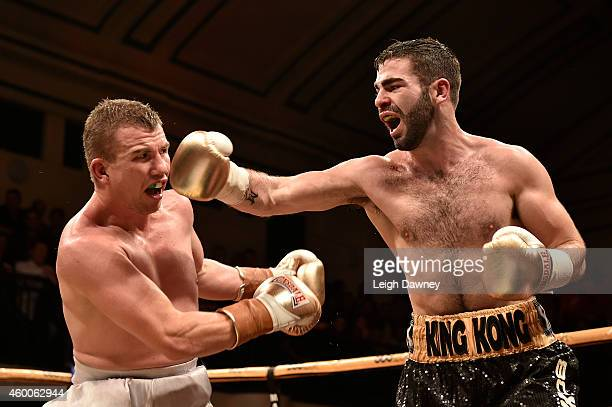 Jono Carroll defeats Gary Buckland during the Semi final two in the Prizefighter Lightweights III at York Hall on December 6, 2014 in London, England.