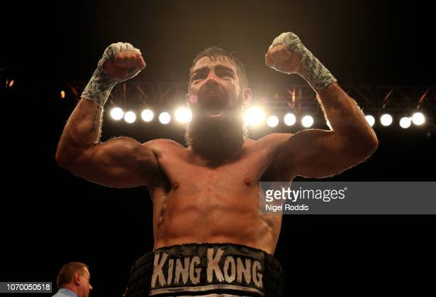 Jono Carroll reacts after the IBF Super-Featherweight Final Eliminator between Josh Kelly and David Avanesyan at FlyDSA Arena on December 8, 2018 in...