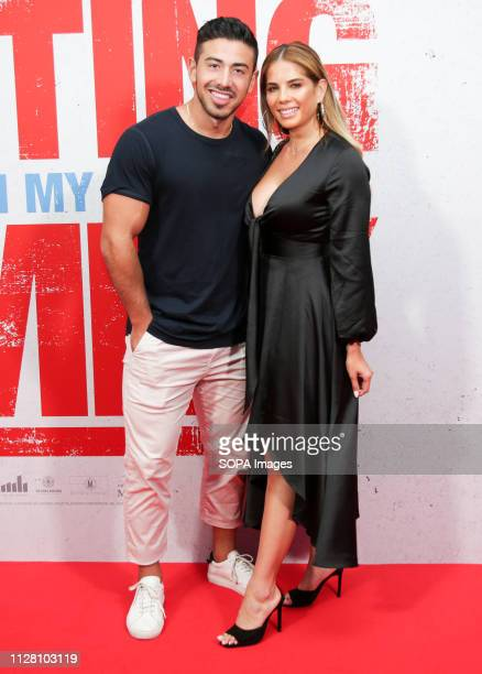 CINEMAS SYDNEY NSW AUSTRALIA Jono Castano Amy Castano attends the premiere of Fighting With My Family at Event Cinemas George Street