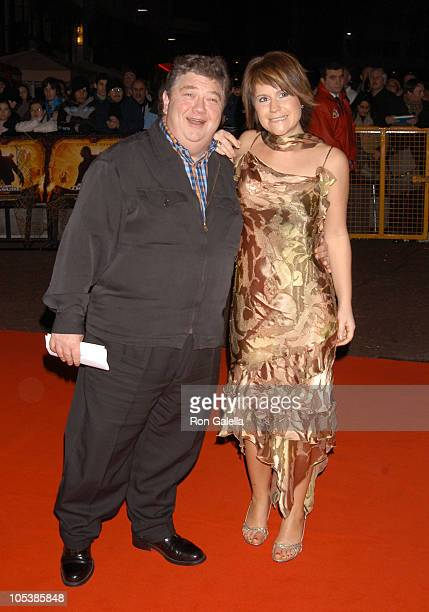 Jono Coleman and Harriet Scott during National Treasure London Premiere at Odeon West End in London Great Britain