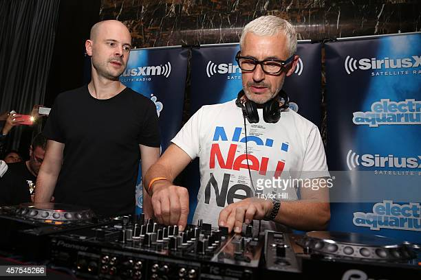 Jono Grant and Tony McGuinness of Above Beyond perform a private concert for SiriusXM listeners At The Red Room At The Gansevoort Park Avenue airing...