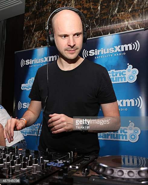 Jono Grant of Above Beyond performs a private concert for SiriusXM listeners at the Red Room at the Gansevoort Park Avenue airing live on BPM on...
