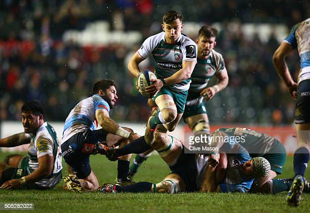 Jono Kitto of Leicester Tigers in action during the European Rugby Champions Cup match between Leicester Tigers and Benetton Treviso at Welford Road...