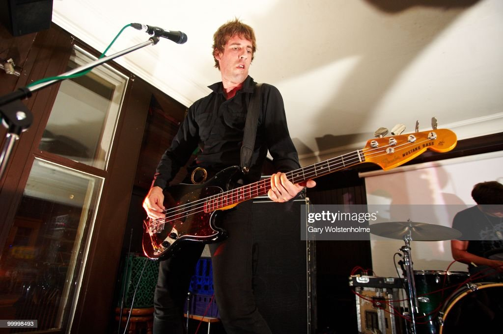 Jono MOFO of A Place To Bury Strangers performs on stage at The Harley on May 19, 2010 in Sheffield, England.