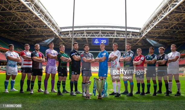 Jono Ross of Sale Sharks, Ben Morgan of Gloucester Rugby, Chris Robshaw of Harlequins, Jack Yeandle of Exeter Chiefs, Alex Waller of Northampton...