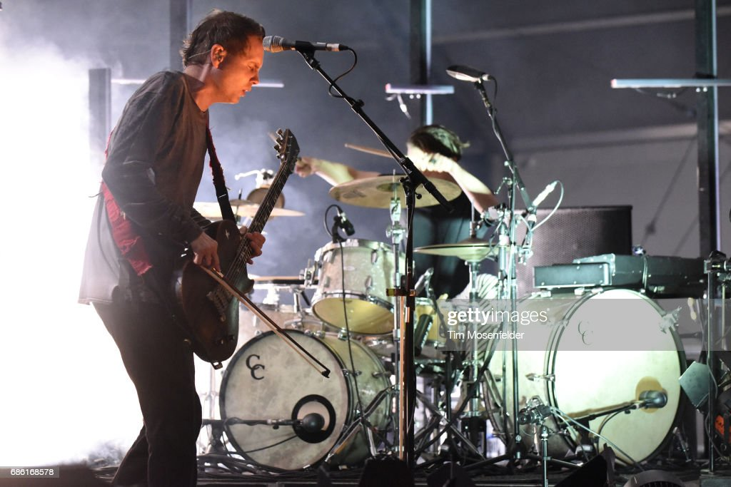 Jonsi Birgisson (L) and Orri Pall Dyrason of Sigur Ros performs during the 2017 Hangout Music Festival on May 20, 2017 in Gulf Shores, Alabama.