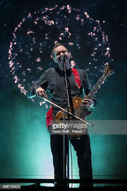 Jonsi Birgisson from Sigur Ros performs at Rock en Seine on August 27 2016 in Paris France