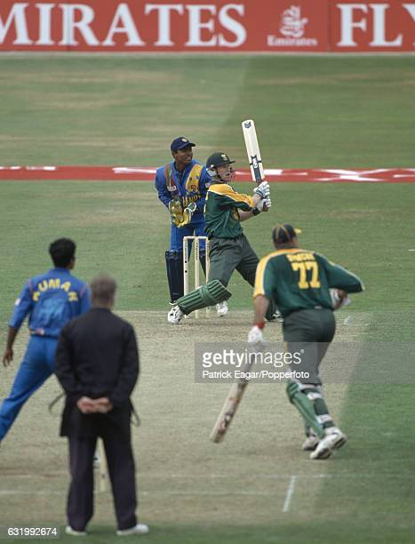 Jonty Rhodes batting for South Africa during his innings of 54 in the Emirates Triangular Tournament One Day International between South Africa and...