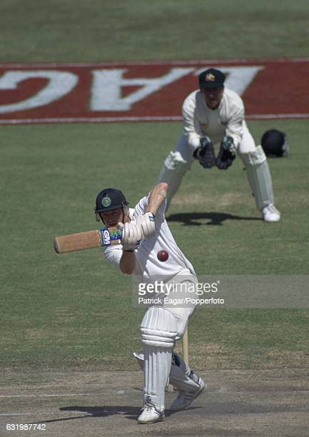 Jonty Rhodes batting for South Africa during the 2nd Test match between South Africa and Australia at Newlands Cape Town South Africa 21st March 1994...