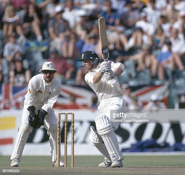 Jonty Rhodes batting for South Africa during the 2nd Test match between South Africa and England at the New Wanderers Stadium Johannesburg South...