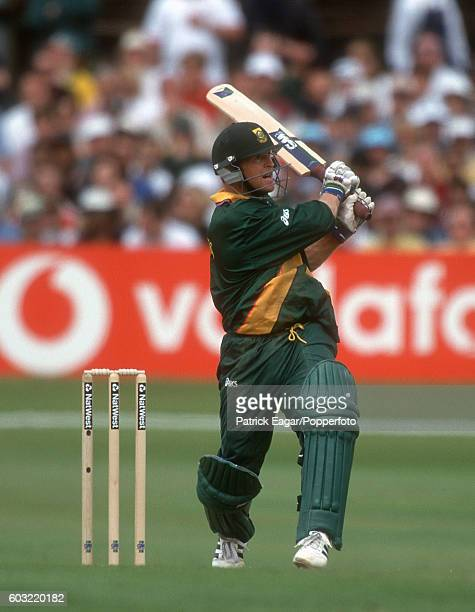 Jonty Rhodes batting for South Africa during the World Cup Super Six match between Australia and South Africa at Headingley Leeds 13th June 1999