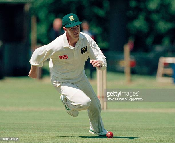 Jonty Rhodes fielding for South Africa during the match between the Earl of Carnarvon's XI and South Africa played at Highclere Castle 23rd June 1994...