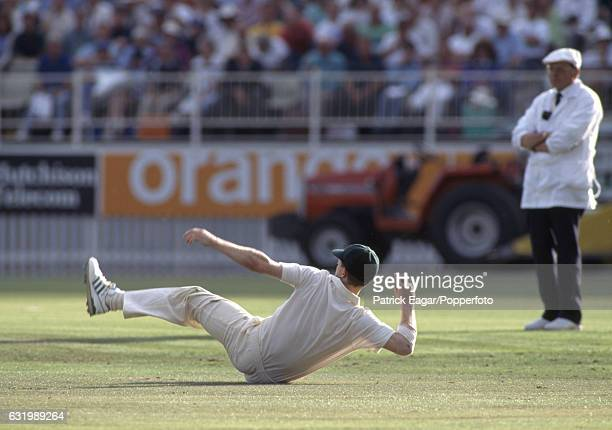 Jonty Rhodes of South Africa fields the ball during the 1st Texaco Trophy One Day International between England and South Africa at Edgbaston...
