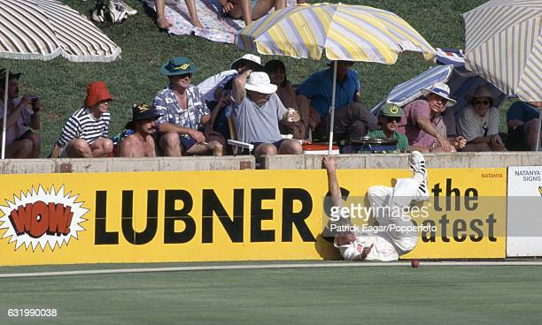 Jonty Rhodes of South Africa fields the ball on the boundary during the 1st Test match between South Africa and England at Centurion Park Centurion...